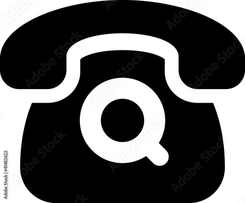"""""""Vector Telephone Icon Isolated"""" Stock Image And Royalty"""
