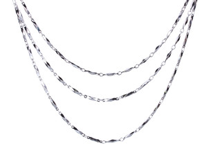beautiful silver chain isolated on white