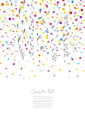 7 Streamers & Confetti Silver/Color A4 Mix