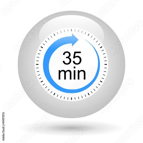 bouton ic ne minuterie 35 minutes photo libre de droits sur la banque d 39 images. Black Bedroom Furniture Sets. Home Design Ideas