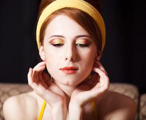 Redhead girl. 70s