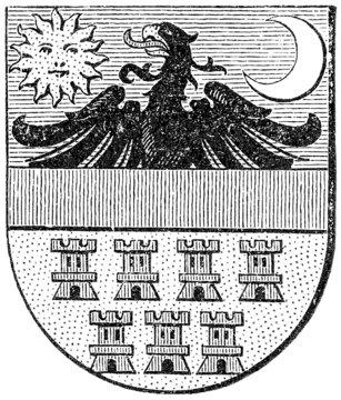 Coat of arms of Transylvania, (Austro-Hungarian Monarchy)