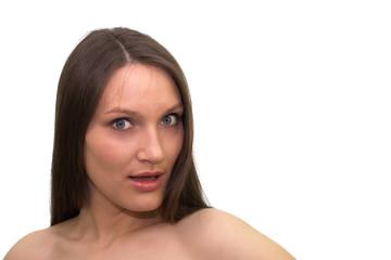 The beautiful surprised girl
