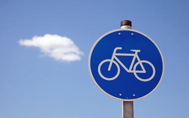 Fahrradschild mit Wolke