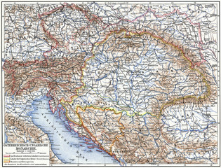 Map of Austro-Hungarian monarchy.