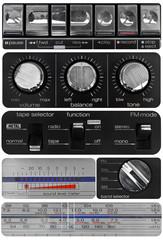 Vintage audio knobs set
