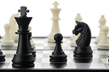 The black chess king