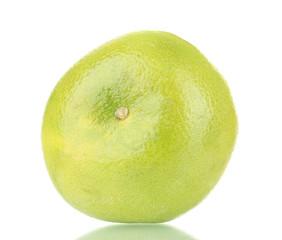 green grapefruit isolated on white