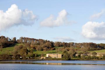 large estate mansion on river blackwater