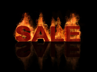 hot sale title with flame burning effect and reflection