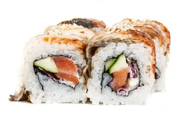 Japanese traditional Cuisine - Maki Roll with Cucumber , Cream C