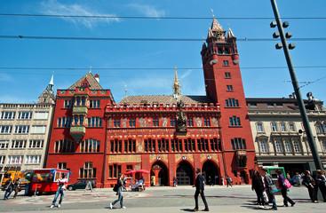 Rathaus Turm à Bâle , Suisse.