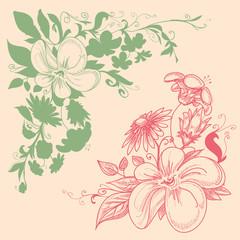 Floral corner decorations