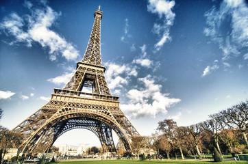 Fotomurales - Colors of Eiffel Tower in Paris