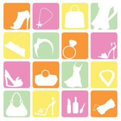 fashion items icons