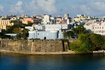 Evening view on old San Juan, Puerto Rico