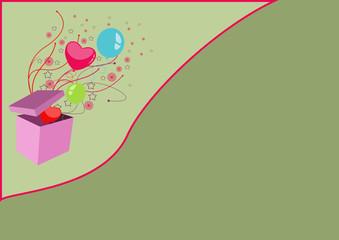 Birthday ballon card