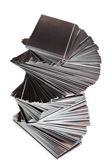 stack of black cards