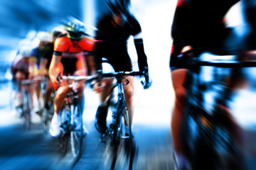 cycle race blur