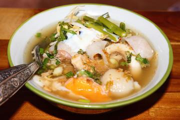 Fish Thai noodles