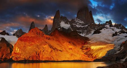 Acrylic Prints Brown Mount Fitz Roy, Patagonia, Argentina