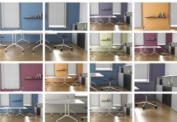 Farben und Büroräume