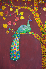 Peacock glass mosaic