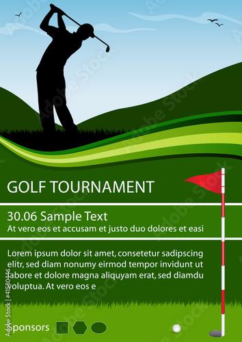 Golf Tournament Flyer Template Free Visualbrainsfo