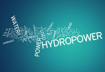 """Word Cloud """"Hydropower"""""""