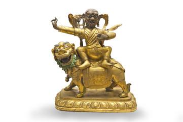 Chinese ancient Tibetan Buddhism, bronze happy Buddha