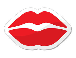 Red lips - love, passion icon