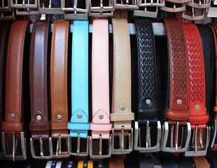 Color leather belts