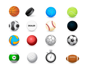 icon of sports balls and stopwatch