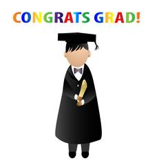 Congrats grad! vector stock