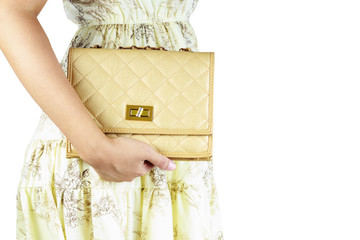 woman with Luxury bags.