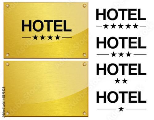 Plaque dor e et de m tal h tel hotel 4 toiles for Hotels 5 etoiles