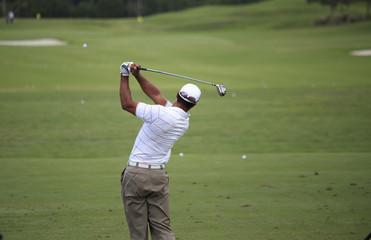 Deurstickers Golf Man golf swing