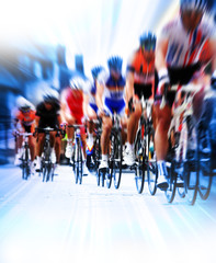 Photo sur Aluminium Cyclisme cycling road race