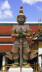 Giant gate protector in Bangkok Grand Palace, Wat Phra Kaeo Bang