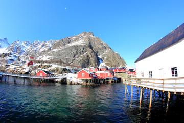 The stockfish  lofts  of Å in Lofoten