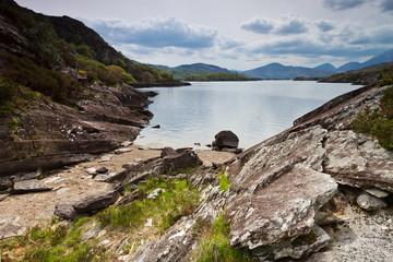 Killarney scenery of mountains and lakes, Ireland