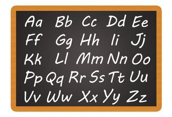 Schultafel - Alphabet