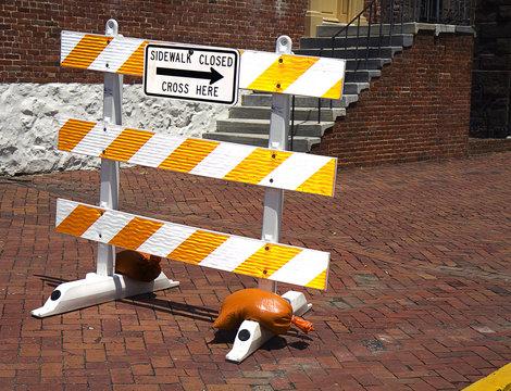 Construction Sidwalk Sign