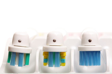 electrical toothbrush isolated on white