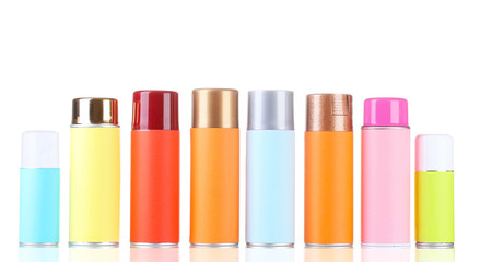 aerosol cans isolated on white