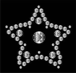 Diamond star Vector