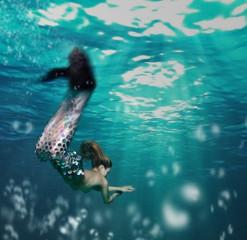 Girl as mermaid