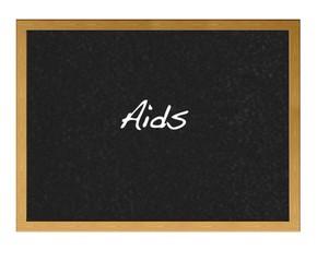 Aids blackboard.