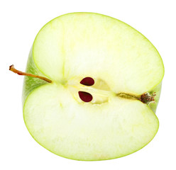 Slice of fresh green apple