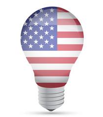 Us ldea lightbulb illustration design over white